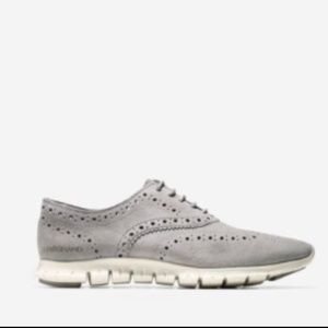 Ironstone Wingtip Zerogrand Oxford Sneakers 9 Gray